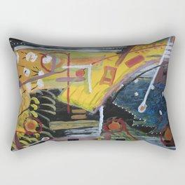 Cafe Terrace at Night a la Mela Rectangular Pillow