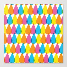 Colorful Ink Droplet Pattern Canvas Print