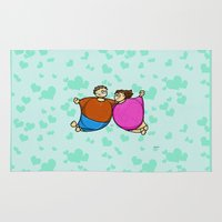 fat Area & Throw Rugs featuring Fat Lovers by Giuseppe Lentini