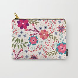 Colorful Floral Spring Pattern Carry-All Pouch