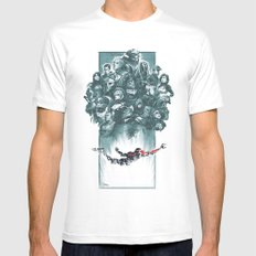 Falling Shepard MEDIUM Mens Fitted Tee White