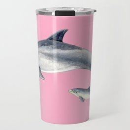 Bottlenose dolphin pink Travel Mug