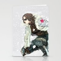 winter soldier Stationery Cards featuring winter soldier by MacheteJo