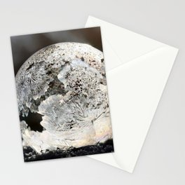 Frost Ice Crystal Bubble in Early Morning Sunshine color photography / photographs by Daniela Rapava Stationery Cards