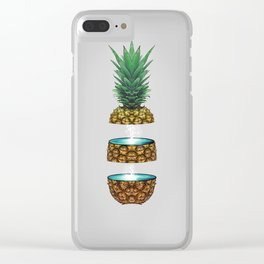Pineapple Space Clear iPhone Case