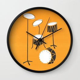 Drum Kit Drummer Wall Clock