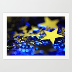 Winter stars Art Print