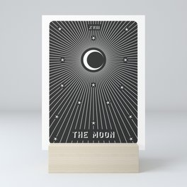 Minimal Tarot Deck The Moon Mini Art Print