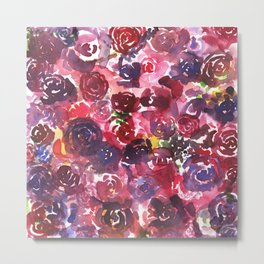 Muddled Roses Metal Print