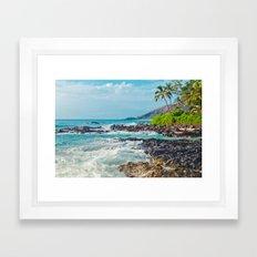 Paako Beach Blue Sensation Framed Art Print