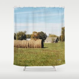 Rolled Hay Shower Curtain