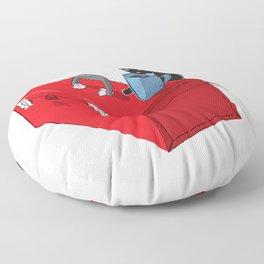 Chat Noir Beverage Tipper Floor Pillow