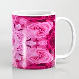 Ring of Reflective Dusky Pink Roses Coffee Mug