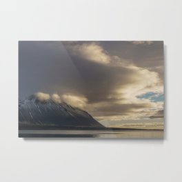 Sunshine on the Cloudy Mountains   Landscape Photography Metal Print
