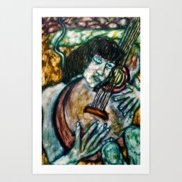 Music, Her World Art Print