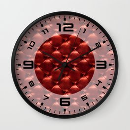 Opulent Tufted 5 Wall Clock