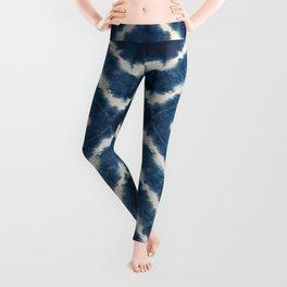 Shibori, tie dye, chevron print Leggings