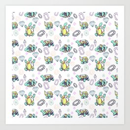 Gemstone Turtles Art Print