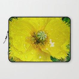 Yellow Poppy Laptop Sleeve