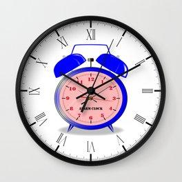 Oval Alarm Clock Wall Clock