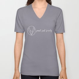 Pant Suit Society (white text) Unisex V-Neck