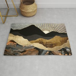 Copper and Gold Mountains Rug