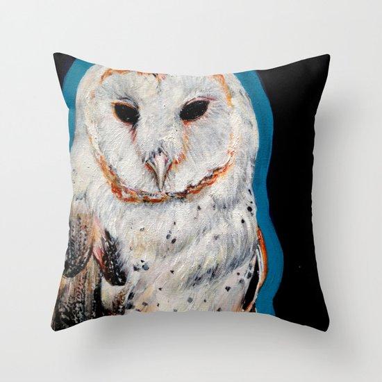 Barn Owl 3 Throw Pillow