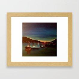 Midnight Harbor Framed Art Print