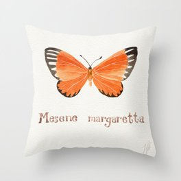 Butterfly - Mesene margaretta Throw Pillow