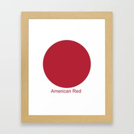 American Red Framed Art Print