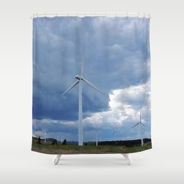 Windmill Park in Cap-Chat Shower Curtain