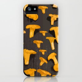 Chantterelles On A Dark Grey Background - Autumn Harvest - #Society6 #buyart iPhone Case