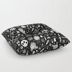 Curiosities: Bone Black Floor Pillow