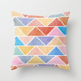Colorful Triangle IV(Ranging Tribuj Char) Throw Pillow