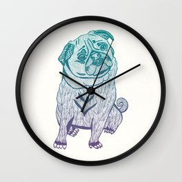 Duotone Pug Wall Clock
