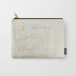 Minimal New York City Subway Map Carry-All Pouch