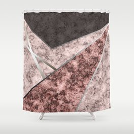 Marble . Combined abstract pattern . Shower Curtain