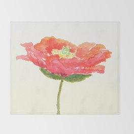 red poppy Throw Blanket