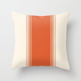 Marmalade & Crème Vertical Gradient Throw Pillow