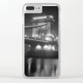Chain Bridge Budapest Clear iPhone Case