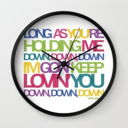 DOWN Wall Clock