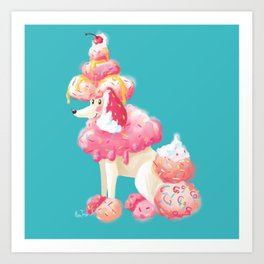 Ice cream dog Art Print