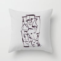 dirty dancing Throw Pillows featuring Dirty by 5wingerone