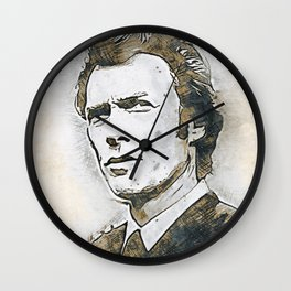 A Tribute to CLINT EASTWOOD Wall Clock