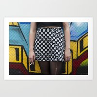 Skirt and cig Art Print