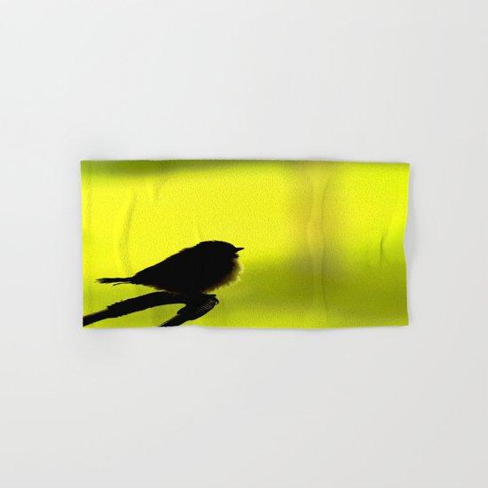 Baby Bird In Early Summer  Hand & Bath Towel