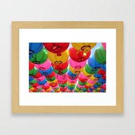 Rows of Gatbawi Lanterns Framed Art Print