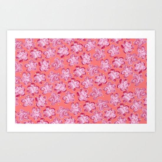 Wallflower - Rosette Art Print