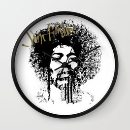 Jimi Hendrix / ink Wall Clock