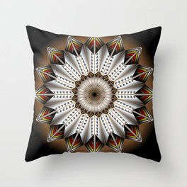 Feather Design Throw Pillow